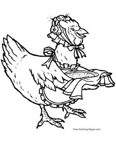Animal coloring pages - Chicken