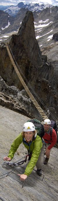 The Mt. Nimbus Via Ferrata in Canada.  Photo by Topher Donahue via Canadian Mountain Holidays