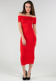 New Womens Ladies Red Off The Shoulder Cocktail Ball Dress Size 8,10,12,14 | eBay