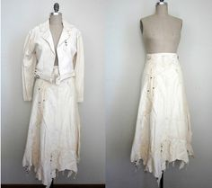 Indian Buckskin Dresses for Sale | vintage buckskin traditional native american two piece dress white ...