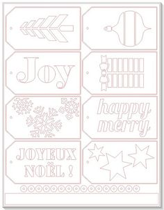 Christmas Tags - free Silhouette cut file by melstampz, via Flickr