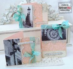 Cards by Melissa Phillips using Darkroom Door 'Prague' Photochips