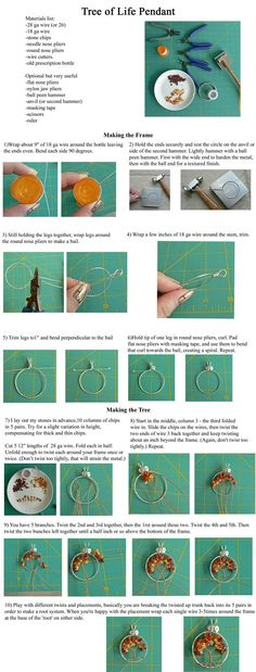 Pendant hoop and bail from 1 piece of 18 gauge wire! Simple Wire Wrap Tree Tutorial by ~magpie-poet on deviantART: