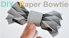 How to make a Paper Bowtie (DIY Tutorial) -- Ric refuses to wear a tie, maybe he'll be okay with this one