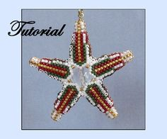 Petite Ribbon Star Ornament by Paula Adams AKA Visions by Paula
