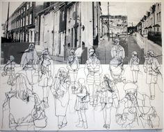 Rosie James - A collection of stitched and screenprinted works looking at the individual within the crowd Rosie James, A Level Art, Sewing Art, Gcse Art, Environmental Art, Textile Artists, Urban Landscape, Collage Art, Art Lessons