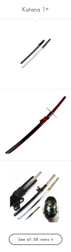 """Katana 1#"" by haruhikurosaki-demon ❤ liked on Polyvore featuring weapons, fillers, other, accessories, the walking dead, ninja, armas, sword, katana and backgrounds"
