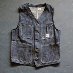Work Vest in Selvage Denim | Circle A Brand