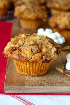S'mores Streusel Muffins from The BakerMama