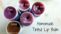 DIY Homemade Tinted Lip Balm using natural nontoxic ingredients Beeswax Lip Balm, Tinted Lip Balm, Lip Tint, Homemade Lip Balm, Diy Lip Balm, Homemade Beauty, Homemade Things, Homemade Moisturizer, Hibiscus