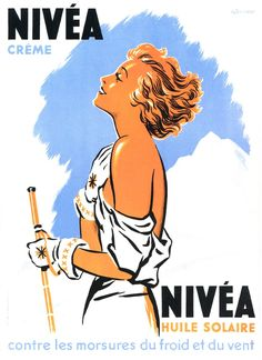 Yves Béhar bucks the trend of more is more in the skincare market, designing a simplified visual identity and pared down, eco-friendly packaging for Nivea. Advertising History, Retro Advertising, Vintage Advertisements, Vintage Labels, Vintage Ads, Vintage Posters, Vintage Stuff, Retro Illustration, Illustrations