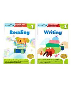 Grade 1 Writing & Reading Workbook Set by Kumon Publishing #zulily #zulilyfinds