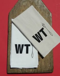 Saw WTF this weekend for $24, know I can make it cheaper. WANT!  Flour Sack Kitchen Towel  WTF by lilbasketcase on Etsy, $20.00