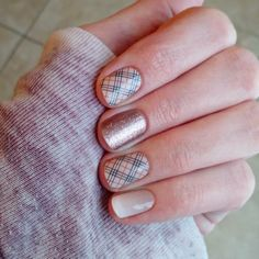 Upper East Side, Rose Gold Sparkle, and Almond Ombre...nail art that takes 15 minutes to do and lasts up to two weeks? I'll take it. www.jamrach.jamberrynails.net