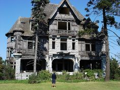 just imagine how much someone invested in this house, 100-some-odd years ago. this was someone's dream house.