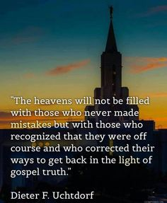 Heaven is not full of those who have made no mistakes just those who have return to the path after they have strayed