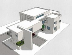 Find out all photos and details of Residence(Academic) on Archilovers. Browse the complete collection of pictures and design drawings Architecture Concept Drawings, Modern Architecture House, Architecture Plan, Modern House Design, Architecture Blueprints, Minimal Architecture, Architectural House Plans, Facade House, Building Design