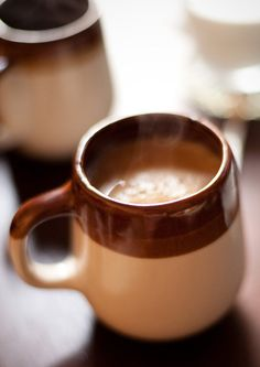 my mom had similar mugs like this - drank my first cup of coffee out of one :)