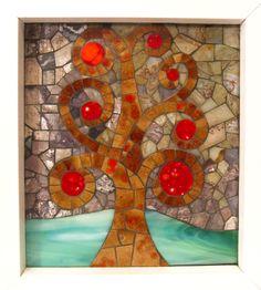 Árbol de la vida, mosaico realizado en piedra, azulejos y vidrio