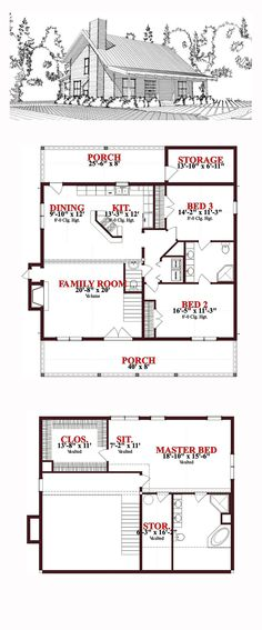 2 Bedroom Bi Level Home With Open Living: 45 Best Saltbox House Plans Images In 2016