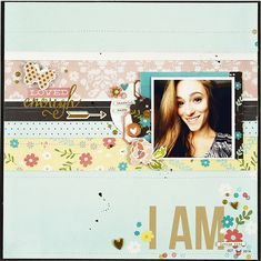 Loved Enough - Scrapbook.com - Beautiful soon to be available I Am Collection by Simple Stories includes lovely florals, stunning gold foil and more perfect for girl or women layouts.