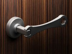 "Wrench door handle - great for the garage or a ""man cave""."