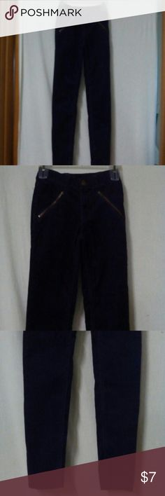 """Lands End Kids Girls Size 10S Corduroy Pants Barely worn, purple, inside elastic and button, zipper with a metal button, two front zip pockets, two back pockets, cotton and spandex, waist 24"""", front rise 7"""", inseam 26"""" Lands' End Bottoms"""