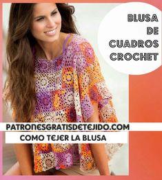 Blouse, Crochet Ideas, Grande, Crocheting, Tops, Women, Summer, Fashion, Crochet Blanket Patterns