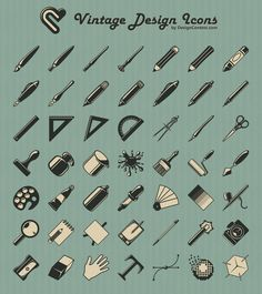 FREE download on click-thru // Vintage icons