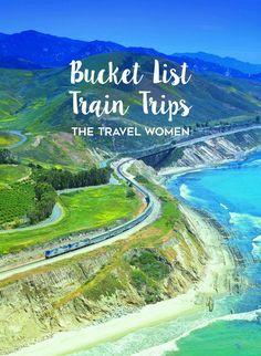 Bucket List Train Trips over train along the coast