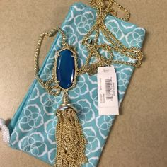 NWT Kendra Scott Everly necklace blue agate NWT Kendra Scott Everly necklace blue agate Kendra Scott Jewelry Necklaces