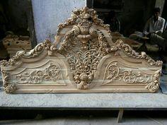 Royal Furniture, Wood Bedroom Furniture, Gothic Furniture, Unique Furniture, Home Decor Furniture, Luxury Furniture, Furniture Makeover, Furniture Design, Single Main Door Designs