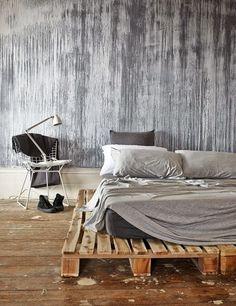 distressed wood wall