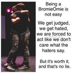 This is deep and i stand by it #BromieOmieForever