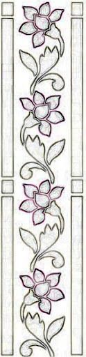 Scandistitches Hand Embroidery Patterns Iron On Transfers - Embroidery Design Guide Crewel Embroidery, Beaded Embroidery, Embroidery Patterns, Mosaic Patterns, Beading Patterns, Machine Quilting, Machine Embroidery, Quilt Border, Border Pattern