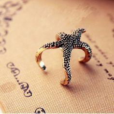 Fashion Starfish Ope Ring