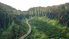 "Hawaii Route 61 aka ""Pali Highway"" by Chun Chau  #highway #mountain #valley #green #hawaii #photography"