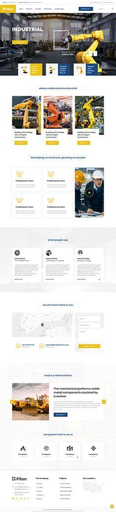 Pilon WordPress Theme - Fabian Cuza Tema Wordpress, Wordpress Theme, Industrial, Industrial Music