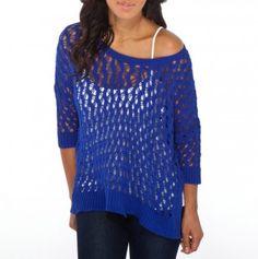 Ladies Oversized Crochet Sweater - Love it! I have one in grey - love love love!