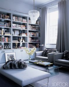 cool and modern grey-is that an Oscar?