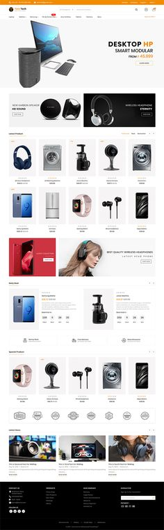 Teratech The Best Electronics Store Template is a good choice for selling - Pin for you Website Layout Template, Website Design Layout, Website Design Inspiration, Layout Design, Web Design, Tool Design, Design Ideas, Graphic Design, Portfolio Design
