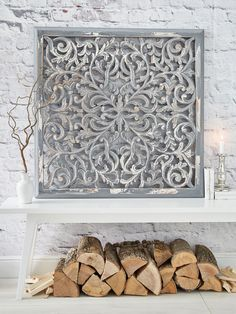 Large Carved Wall Panel Design 1 GL #nordichouse #home #decor