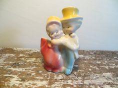 Glazed Pottery Planter Vase Vintage by VintageShoppingSpree, $14.00