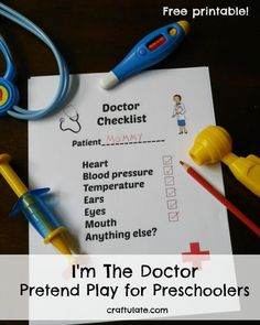 I'm The Doctor Pretend Play for Preschoolers