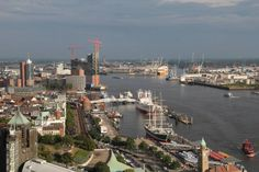 Hamburg panorama from Penthouse Elb-Panorama
