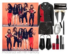 """""""Photoshoot with Fifth Harmony!"""" by inyene105 ❤ liked on Polyvore featuring ONLY, Pierre Balmain, Lanvin, Topshop, Rimmel, Chanel, Whistles, shu uemura, Bobbi Brown Cosmetics and Rachel Entwistle"""