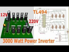 TL494 Inverter Circuit 3000W Complete video tutorial (12 - 220V AC) - YouTube