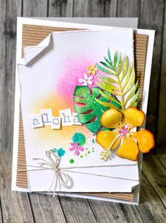 Aloha Hawaii handmade card 1