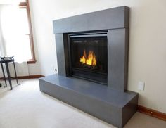 concrete fireplace surrounds - Yahoo Image Search Results