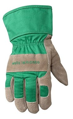 e8cbea5ef8775 Wells Lamont Kids Work Gloves with Safety Cuff, Children and Youth age 5 to  Split Cowhide Leather Palm